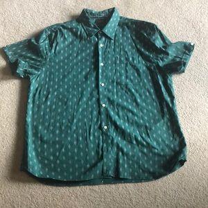 Brand new Jachs green small diamond shirt